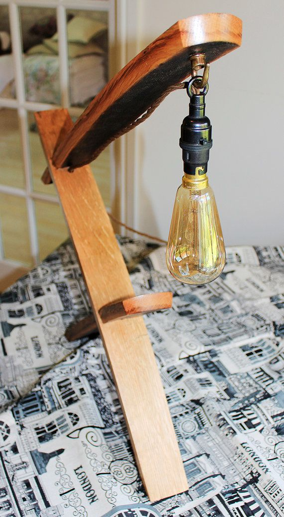 Scotch Whisky barrel stave edison table lamp with or without