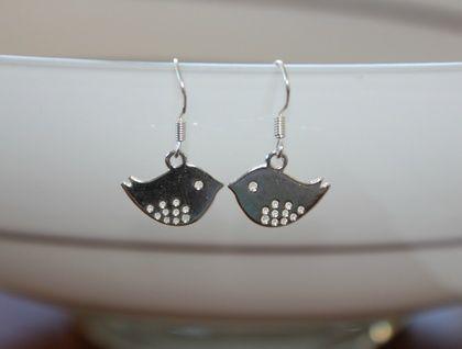 Cute little bird earrings