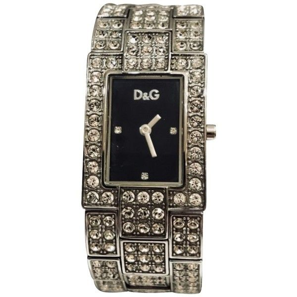 Pre-owned watch ($395) ❤ liked on Polyvore featuring jewelry, watches, silvery, d&g jewelry, preowned jewelry, pre owned jewelry, d&g watches and preowned watches