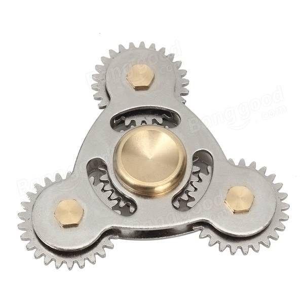 ECUBEE EDC 4 Gear Hand Spinner Gadget Fidget Spinner Focus Reduce Stress Gadget