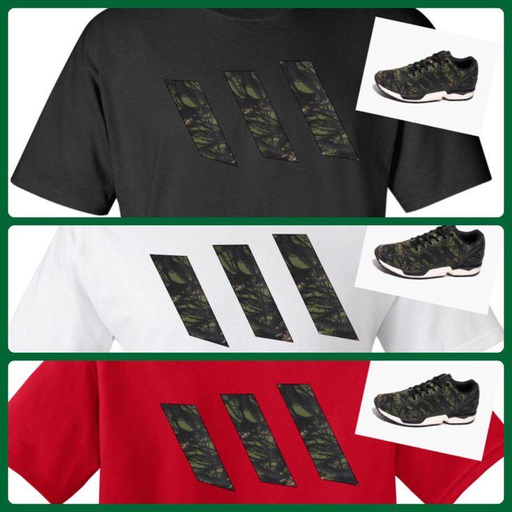 ADIDAS ZX FLUX CAMO MATCHING SHIRT BY COP'EM CUSTOMS. Get one at cop-em.com