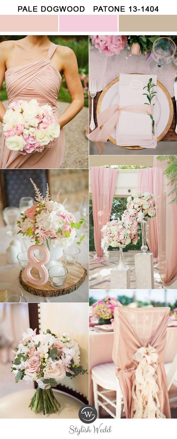 elegant pale dogwood pantone color trends for 2017 spring and summer weddings
