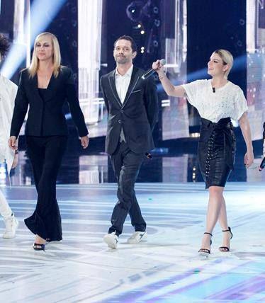 "Boosta wearing Carlo Pignatelli during the Tv program ""Amici""#carlopignatelli"