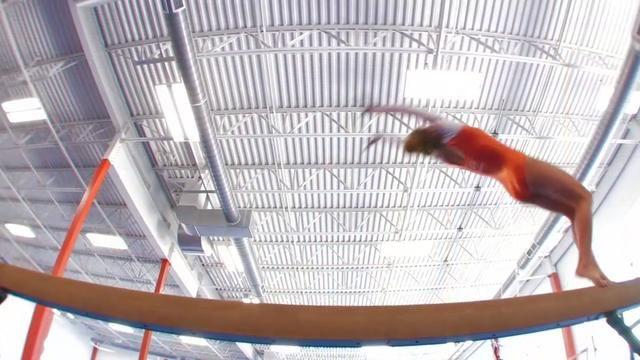 The second half of Annie's Senior Gymnastics video
