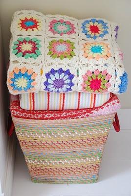 So cozy afghan...crochet...granny square