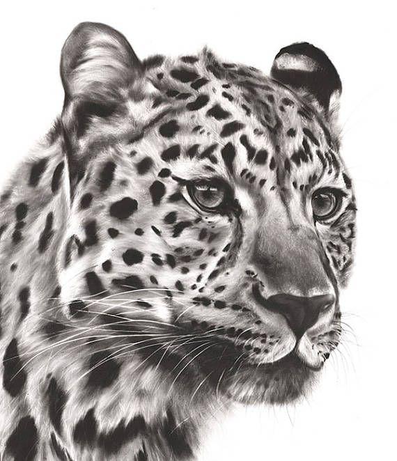 LEOPARD PAINTING  original oil painting leopard artwork
