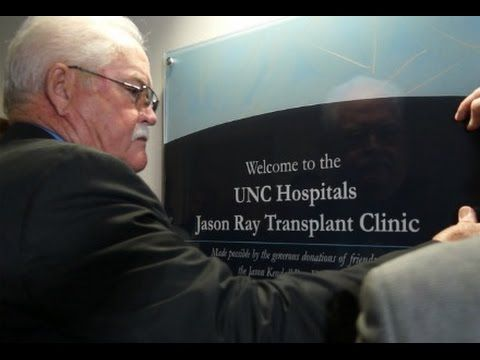"""On April 16, on what was described as a """"perfect Carolina day,"""" Jason Ray's legacy was celebrated as the UNC Hospitals Jason Ray Transplant Clinic was officially dedicated."""