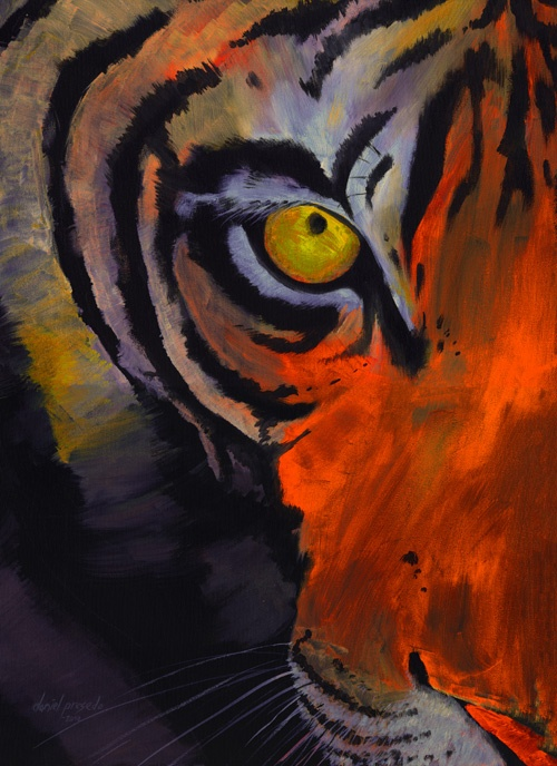 eye of the tiger painting inspiration