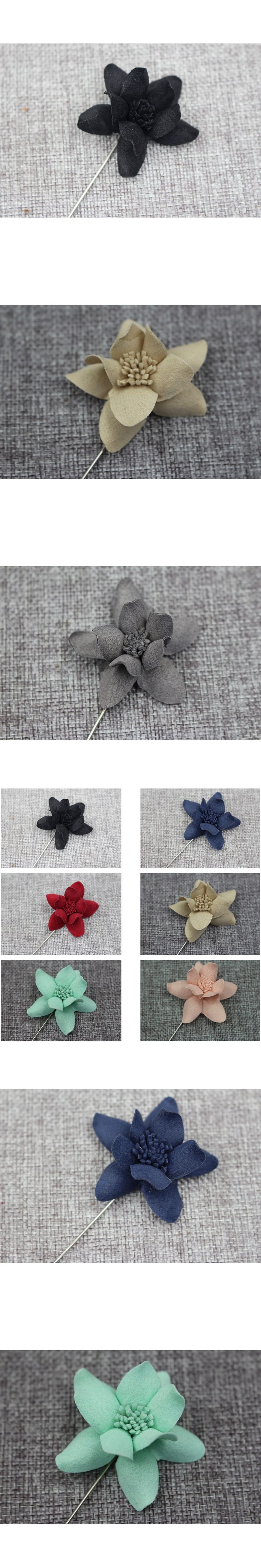 Men Women Boutonniere Stick Wedding Lapel Pin Flower Brooches Suits Tuxedo Decor BWTQN0020