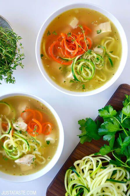 Zucchini Noodle Chicken Soup Recept