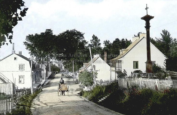 Chemin Royal a Beauport ( Quartier Giffard) vers 1900
