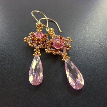 Victorian Lace Beaded Earrings PDF Tutorial Pattern. $10.00, via Etsy.