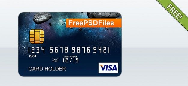 Free Psd Credit Card Template Free Psd Free Psd Freepik Freepsd Card Template Web Elements Credit Card Design Card Templates Free Credit Card Icon
