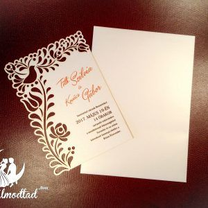 Exkluzív népi esküvői meghívó  #lézervágott #esküvői #meghívó #esküvőimeghívó #egyedi #folk #lasercutting #wedding #invitation #weddinginvitation