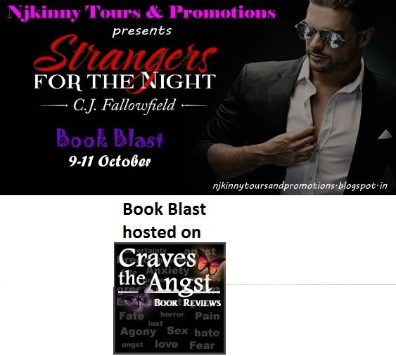"#BookBlast + #Giveaway #StrangersForTheNight by @CJFallowfield on @HazelG_CTA 's blog http://cravestheangst.blogspot.in/2014/10/book-blast-wexcerpt-teaser-images-and.html  Also Enter the #Giveaway to win $10 Amazon GC, 1 Ebk of ""The Austin Series #1""  #EroticRomance #AdultRomance #BlogTour"
