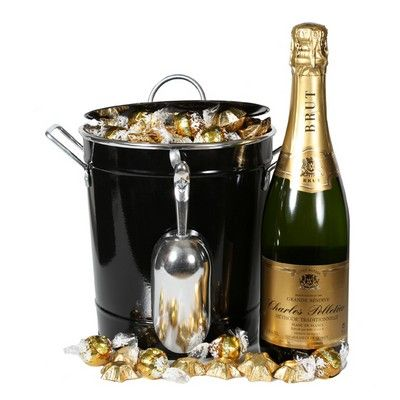 What better way to show someone how special they are than with a bottle of sparkling wine, chocolates and a gorgeous wine bucket to keep, to remind them of you. Includes: 750ml bottle of Charles Pelletier Brut, 10 x White Chocolate Lindt Balls, 15 x Solid Belgian Milk Chocolates from Chocolatier, Keepsake stainless steel champagne bucket, Complimentary gift wrapping and gift card.