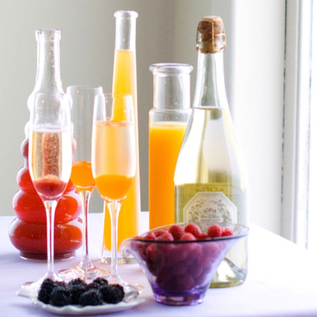 Bellini Bar for Brunch: Bellini Recipe, Bellini Bar, Champagne Brunch, Easter Bellinis, Food, Wedding, Bridal Shower, Drinks, Party Ideas