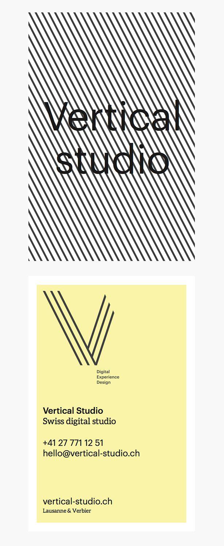 Business Card - Vertical Studio ©vertical-studio.ch #businesscards #corporateidentity #branding #minimal #logodesign
