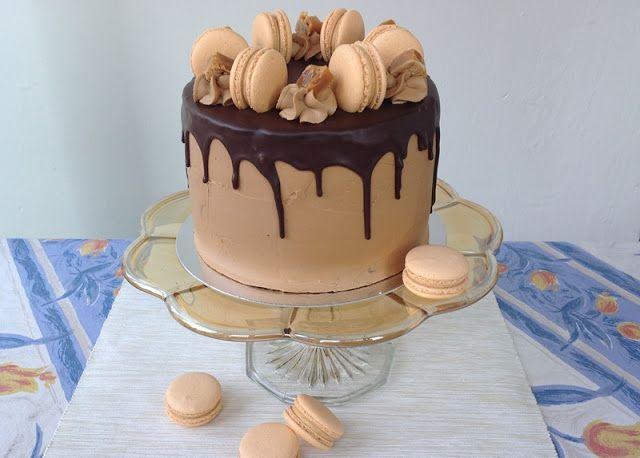 VÍKENDOVÉ PEČENÍ: Karamelový dort/ white chocolate + caramel cake