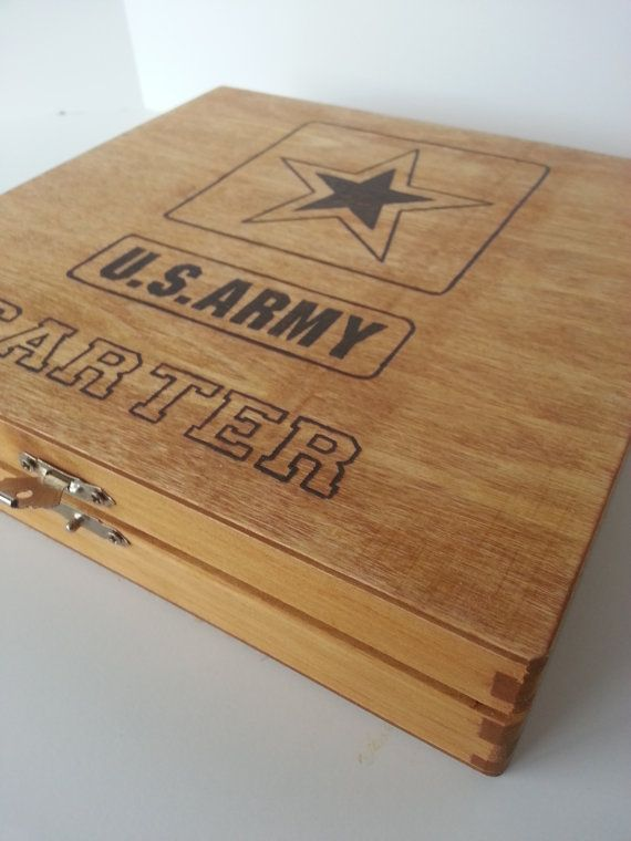 Personalized US Army Keepsake Box  by Five1Designs  Perfect for anyone serving in the Army or for a soldiers relative