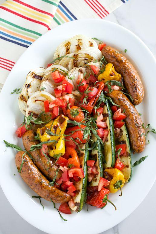 Grilled Italian Platter with Basil Balsamic Vinaigrette | GI 365