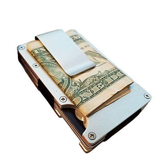 Metal Wallet Money Clip for Men or Women.