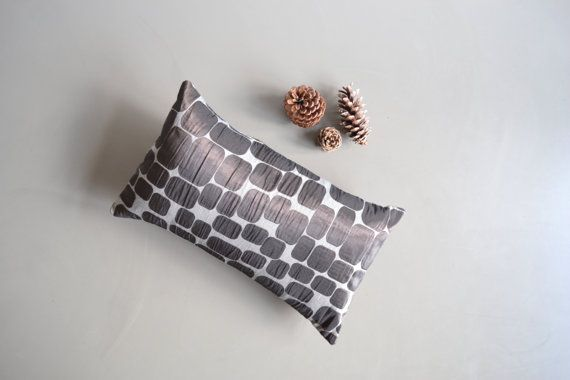 mod brown lumbar pillow cover