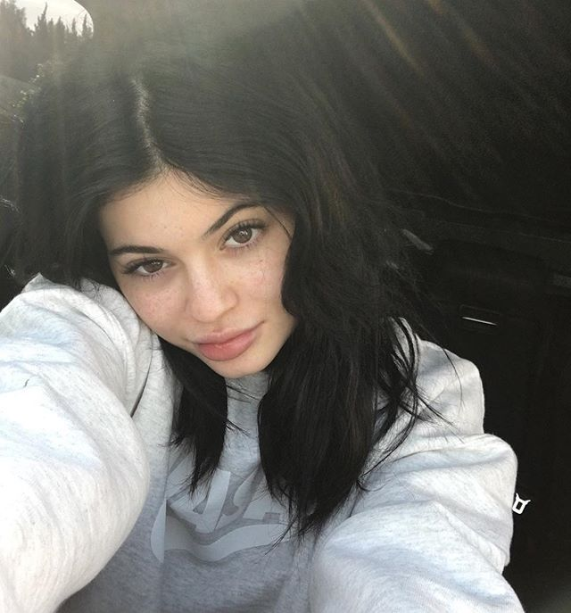 Pin for Later: Kardashian Makeup-Free Selfies That Will Inspire You to Go Bare Kylie Jenner After fans complained that she hides her freckles, Kylie shared this selfie showcasing the cute spots.