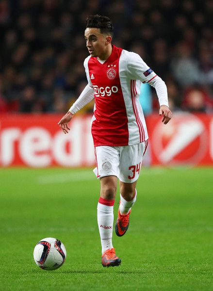 Abdelhak Nouri of Ajax in action during the UEFA Europa League Group G match between AFC Ajax and Panathinaikos FC at Amsterdam Arena on November 24, 2016 in Amsterdam, Netherlands.