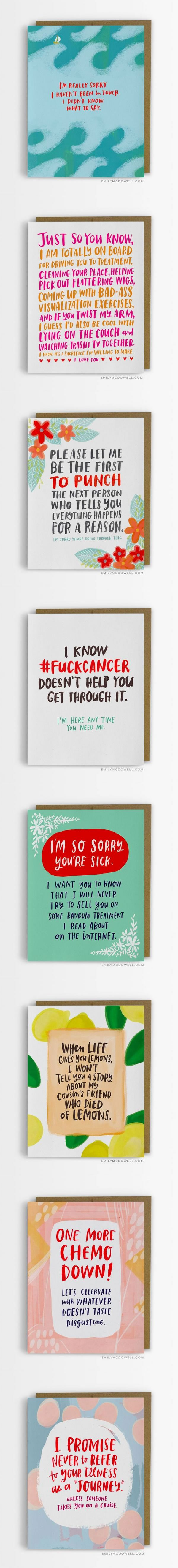 Cancer Survivor Emily McDowell Designs The Cards She Wishes She'd Received From Friends And Family