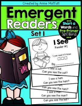Emergent Readers with decodable text and sight words! Perfect for small groups, guided reading and struggling readers!
