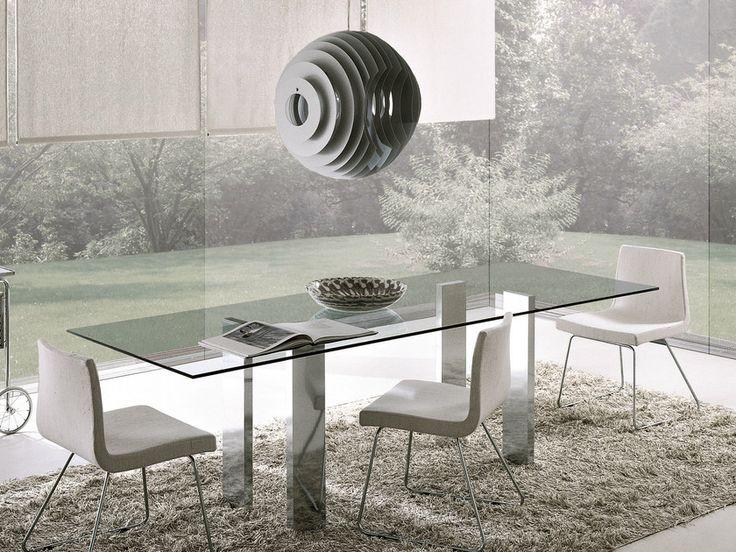 Descarga el catálogo y solicita al fabricante Taul   mesa rectangular By misuraemme, mesa rectangular de cristal diseño Mauro Lipparini, Colección atelier