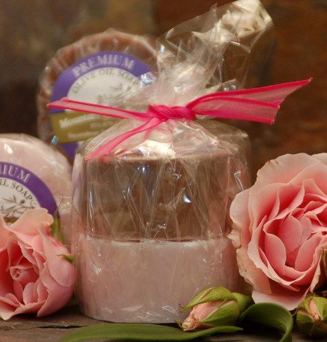 Roses & Chocolate Olive Oil Soap ~ X's and O's... Perfect for Valentine's Day!
