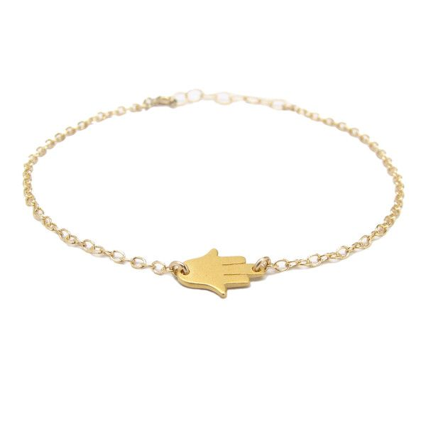 Our petite Hamsa hand bracelet comes with an adjustable cable chain and flat Hamsa hand charm. | Hamsa jewelry from Tangerine Jewelry SHop