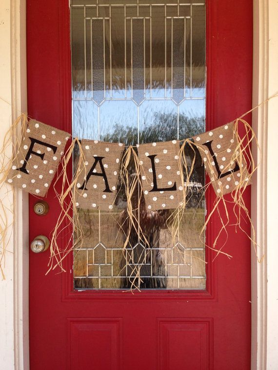 Fall Burlap Banner by stackhouseLA on Etsy