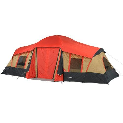 Ozark Trail 10 Person 3 Room Vacation Tent With Shade Awning Cabin Tent Family Tent Camping Ozark Trail Tent