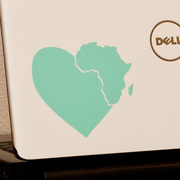 Heart in Africa - Laptop Decal