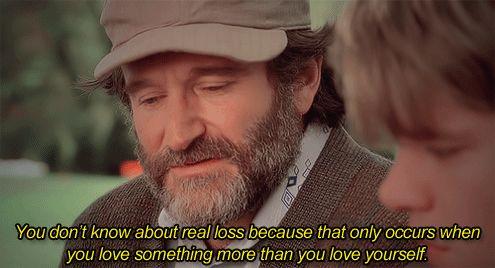 """Robin Williams – """"Você não sabe nada sobre perda, por que isso só ocorre quando você ama algo mais do que a si mesmo"""" (GÊNIO INDOMÁVEL)"""