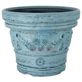 Virágcserép decora 390/310 óceán kék 19 literes műanyag