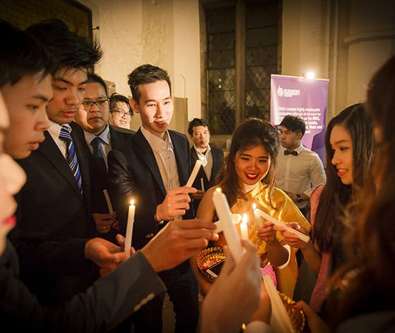 De Montfort University Leicester celebrated the King of Thailand's birthday in style, joined by the University of Leicester.