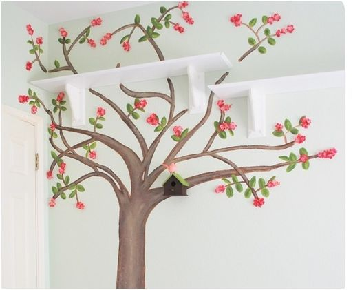 Ciliegio murale art and craft pinterest girls to for Cherry tree mural