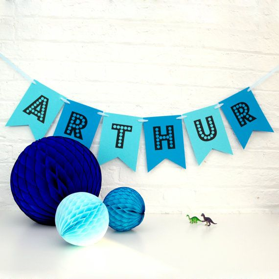 Personalised Birthday Party Name Bunting by PeachBlossomUK on Etsy