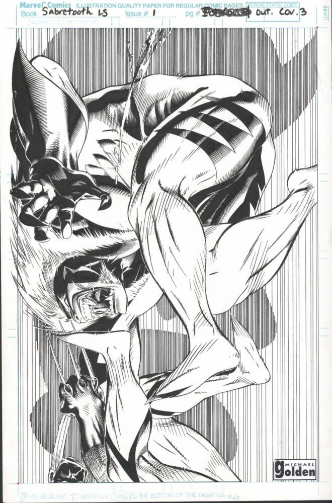 Sabretooth & Wolverine//Michael Golden/G/ Comic Art Community GALLERY OF COMIC ART