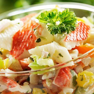 Salade de goberge à saveur de crabe et mini maïs
