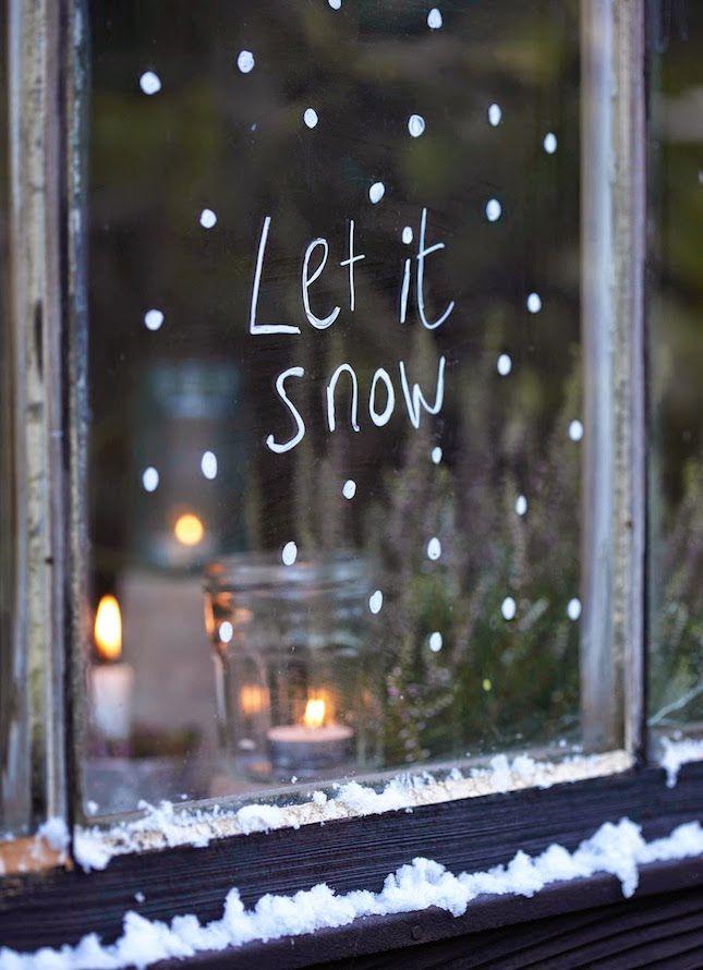 20 schöne Ideen für winterliche Fensterdeko ♥
