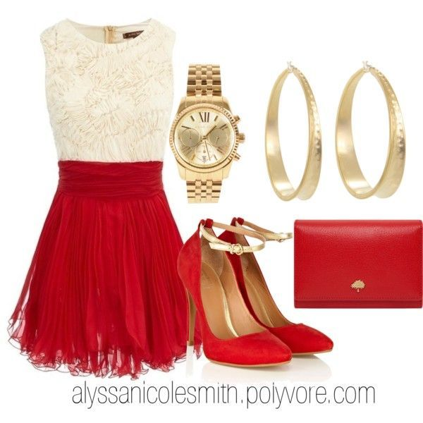 Christmas eve outfit I'd change it too a red sparkle skirt and knit sweater