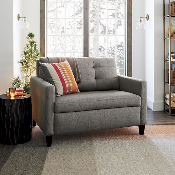 Karnes Twin Sleeper Sofa in Sleeper Sofas | Crate and Barrel