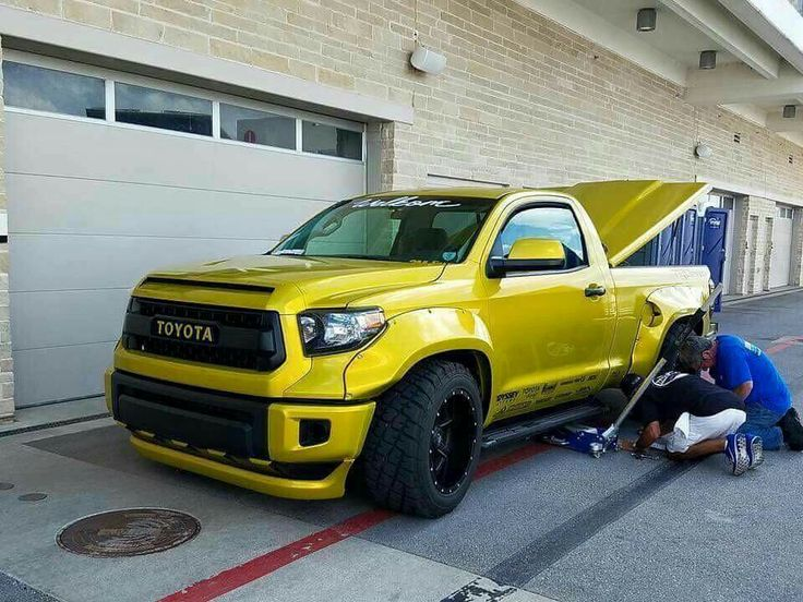 Toyota Tundra wide body and slammed