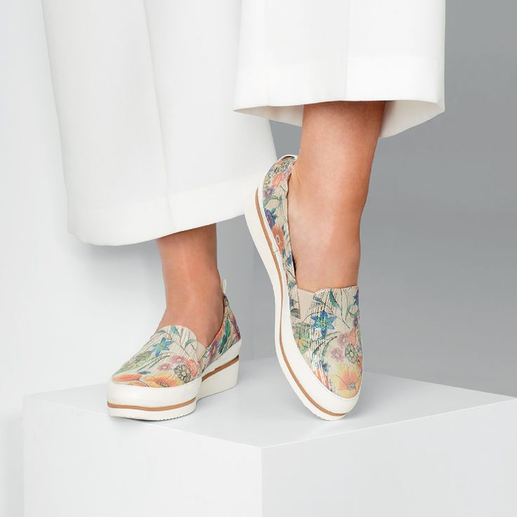 The 'ASMARA' slip-on sneaker by Charles Cooper is the perfect staple for this season. Italian floral leather paired with a  classic silhouette completes this must-have style. Made in Italy.