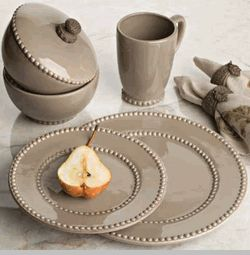 The GG Collection, Livingstone Dinnerware, Taupe